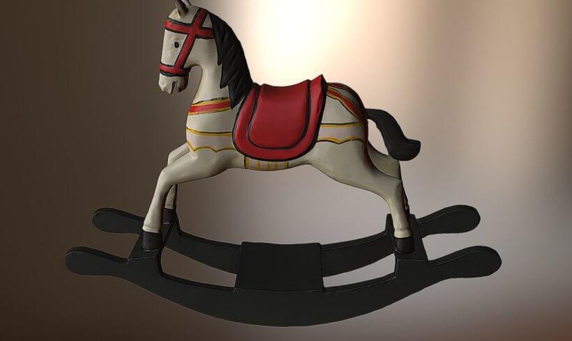 3D sken dřevěného koníka