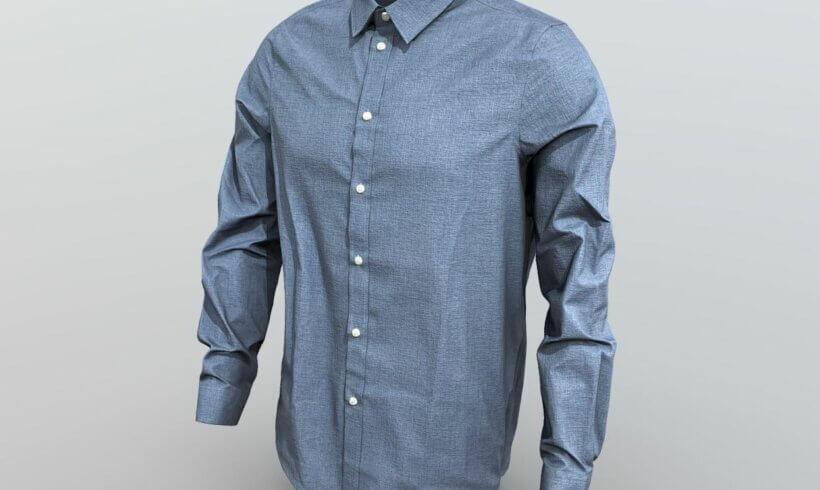 3D model Pier One modrá košile
